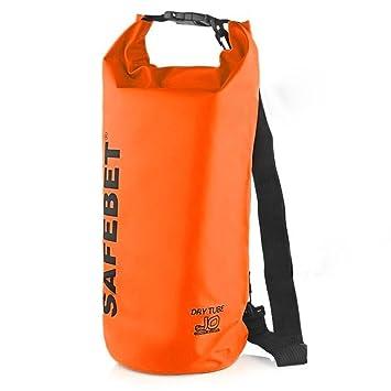 10L Boating Dry Bag Waterproof Backpack Floating Sack - Adjustable Shoulder  Straps - Roll Top Dry Sack Gear Storage Bag for Kayaking Rafting Boating  Beach ... d532d67764f5b