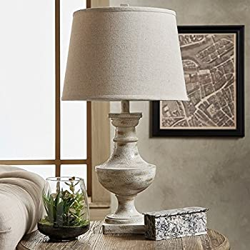 Hyperion Sanded Off White 1 Light Accent Table Lamp By INSPIRE Q Artisan