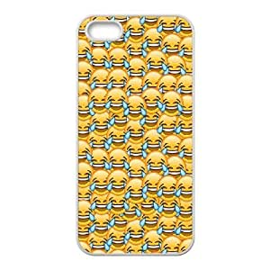 iPhone 5,5S Covers, DDdiy Cute emojis Custom Protective Case for iPhone 5,5S