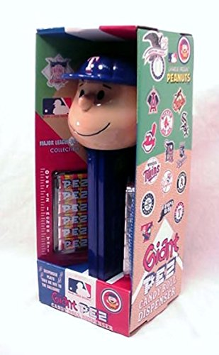 (Charlie Brown Texas Rangers - Giant Pez Dispenser)