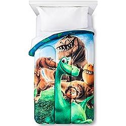 "Disney Good Dinosaur Trio 64"" x 86"" Reversible Twin Reversible Comforter"