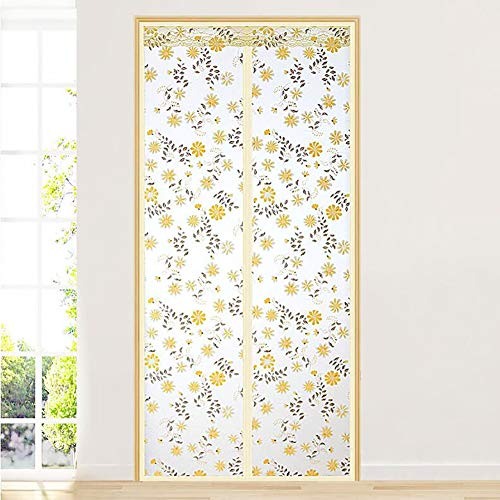 Transparent magnetic thermal insulated door curtain, Magnetic screen door with magnets Thermal and insulated auto closer door curtain For air conditioning room-A 70x200cm(28x79inch)