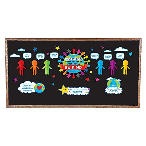 Fun Express - Be Kind Religious Bb Set - Educational - Classroom Decorations - Bulletin Board Decor - 43 Pieces