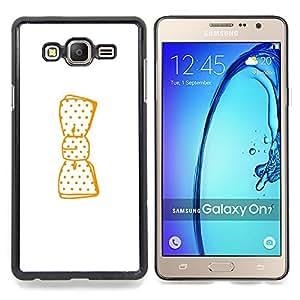"""For Samsung Galaxy On7 O7 Case , Limpie Dibujo minimalista arco blanco"""" - Diseño Patrón Teléfono Caso Cubierta Case Bumper Duro Protección Case Cover Funda"""