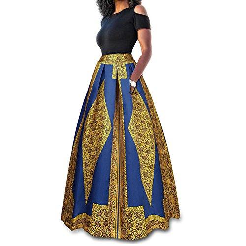 Or Long Th Deux Taille pour Jupe Sexy Set Sexy Couleur Classique Solide Plus paule D't Pices Shirt Soire Femmes Cockatail Longue T Maxi Dress Occasionnel 5nqB7SwA
