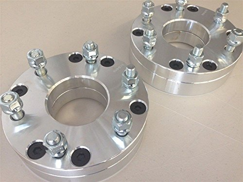 Two Piece Aluminum Open Top - Customadeonly CONVERT 5X4.75 TO 6X5.5 WHEEL ADAPTERS SPACERS | 12X1.5 THREAD | 2 INCH | 2 PCS
