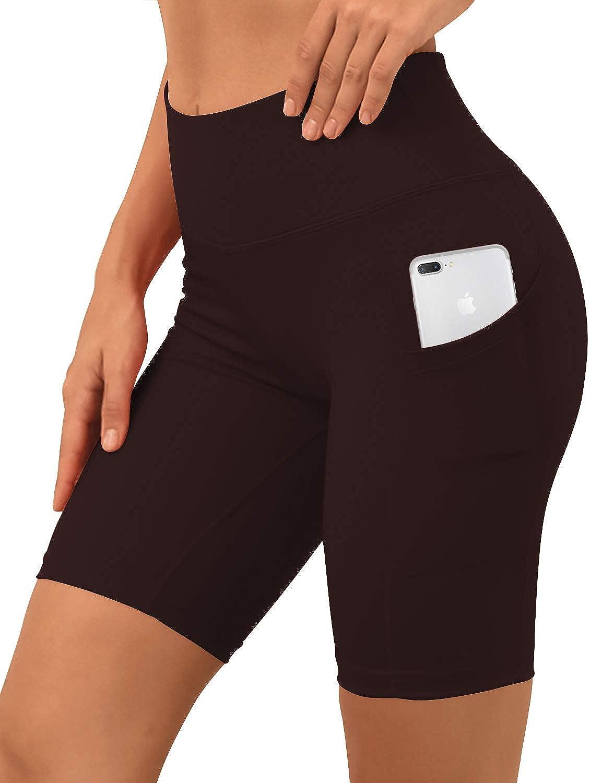 Bwsb030 Mahoganymaroon& xFF08;8 inseam) BUBBLELIME 2.5   4  Inseam Out Pocket Yoga Shorts Running Shorts Active