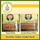 Shastha Chikki Combo Pack (Contains 16 Pkts) Shastha Peanut Chikki - 8 Pkts & Shastha Crushed Peanut Chikki - 8 Pkts (Each Pkt 250 Gms)