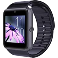CNPGD [U.S. Warranty] All-in-1 Smartwatch and Watch Cell Phone Black for iPhone, Android,...