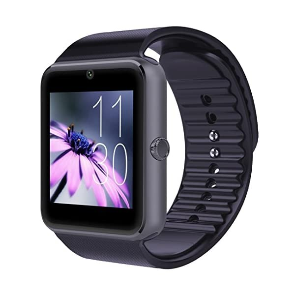 CNPGD Bluetooth Smart Watch(Partial Compatible For IOS IPHONE)+(Full Compatible For Android Smartphone) Samsung, LG, Galaxy Note, Nexus, Sony+Unlocked Watch Cell Phone+Fitness Tracker Camera Pedometer For Kids, Men And Women