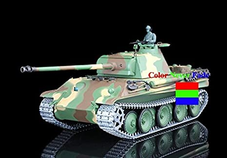 Amazon.com: Henglong 1/16 German Panther G RC Tank Upgraded ...