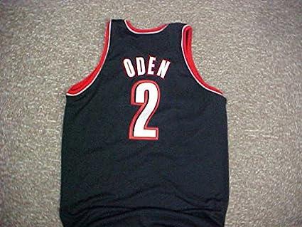 timeless design 1c959 7cc32 Greg Oden Portland Trail Blazers Adidas Game Jersey at ...