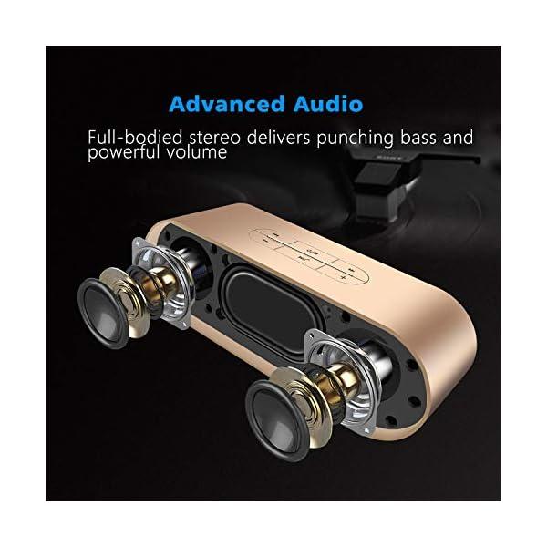 ZoeeTree S3 Enceinte Bluetooth portable, Bluetooth 4.2 EDR, avec Son 360°, 10W Haut Parleur Stéréo avec Audio Haute Définition et Basse Améliorée, Mains Libres Appel TF Carte Slot 2