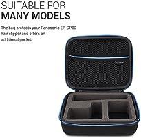 kwmobile Funda compatible con Panasonic ER-GP80 - Con compartimiento para cable de carga - Estuche para máquina de afeitar - En negro: Amazon.es: Salud y cuidado personal