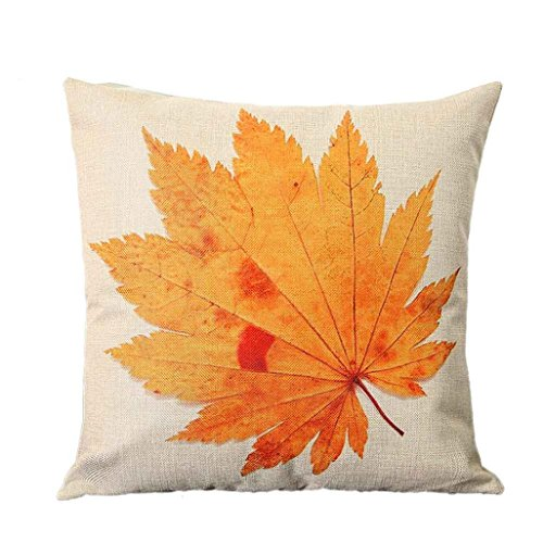 Pillowcases JUNNEY 45cm45cm Home Car Bed Sofa Vintage Decorative Autumn maple leaf Pillow Case Cushion Cover (Maple Leaf Halloween Costumes)