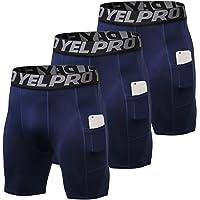 Shengwan 3 Piezas Pantalones Cortos de Compresión Hombre