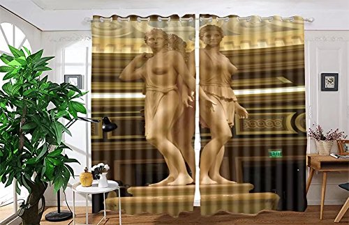vanfan 2 Panel Set Digital Printed Blackout Window Curtains for Bedroom Living Room Dining Room Kids Youth Room Window Drapes(W84