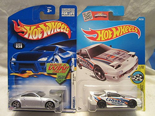 Hot Wheels 2002 First Edition Nissan Z #038 & HW Speed Graphics '96 Nissan 180SX Type X Die Cast 1/64 Scale 2 Car Bundle!