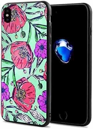 45f3c90f24 Pedicel Flower X Phone Case Compatible with iPhone X/Xs,Fun Crazy Cute Phone