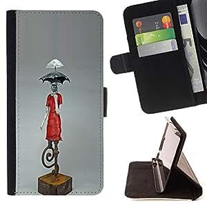 Jordan Colourful Shop - umbrella statue climate change art modern For Samsung Galaxy A3 - < Leather Case Absorci????n cubierta de la caja de alto impacto > -