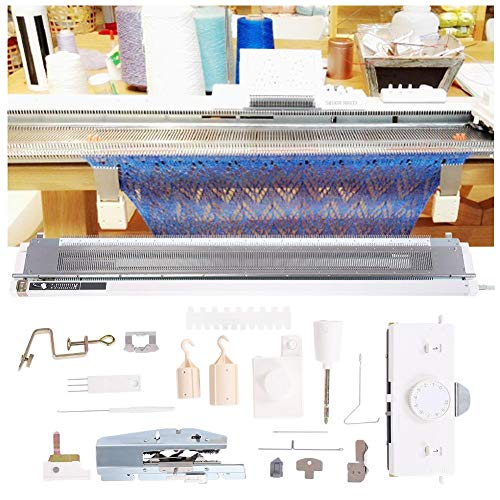 Akozon Knitting Machine, Sweater Knitting Machine Artisan 245 Standard Gauge Plastic Domestic Knitting Machine for Silver Reed SK280 SK360 SK840 Includes Yarn Needles Accessories for Adults/Kids by Akozon (Image #1)