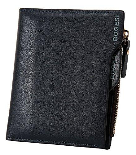 portamonete grande di capacità portatile uomo carte Porta Acmede Portafoglio credito e Portafoglio blu per XwS1IqP