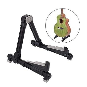 YGQersh Soporte de instrumentos para guitarra eléctrica y acústica plegable de metal - Negro: Amazon.es: Instrumentos musicales