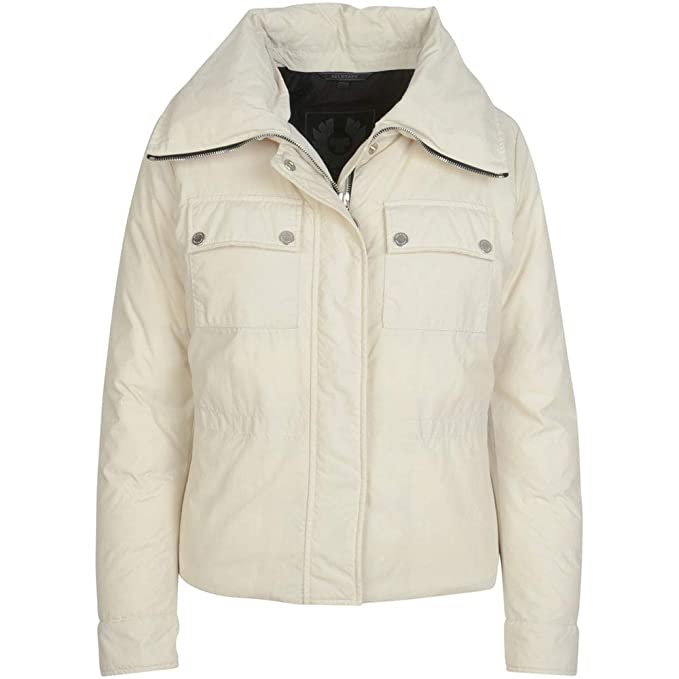 Belstaff Mujeres Chaqueta de bougham Down Blanco: Amazon.es ...