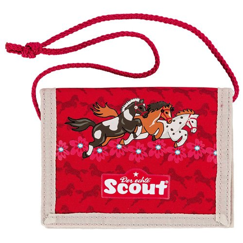 Scout Brieftasche Fahrausweishülle, Rot