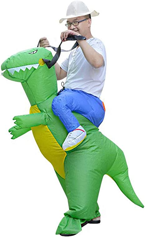 Amycute Disfraz Inflable de Dinosaurio para Adultos, Traje ...