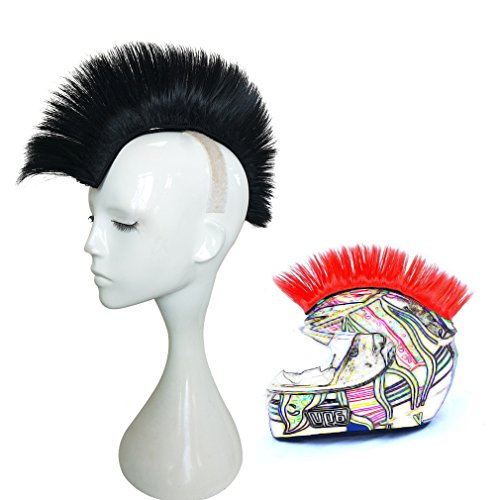 Namecute Skinhead Wig Black Helmet Mohawk Wig Costumes Hairpiece
