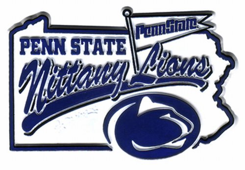 NCAA Penn State Nittany Lions 2D Mascot Map Magnet Penn State Nittany Lions Magnets