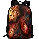 Markui Adult Travel Hiking Laptop Backpack Fractal Artwork School Multipurpose Durable Daypacks Zipper Bags Fashion