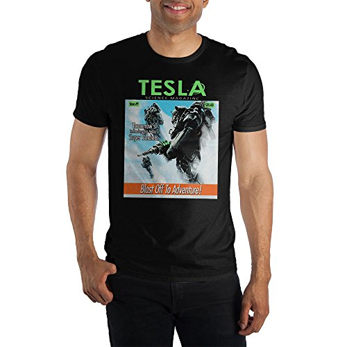 Bioworld Fallout 4 Tesla Science Magazine Adult T Shirt-XL -