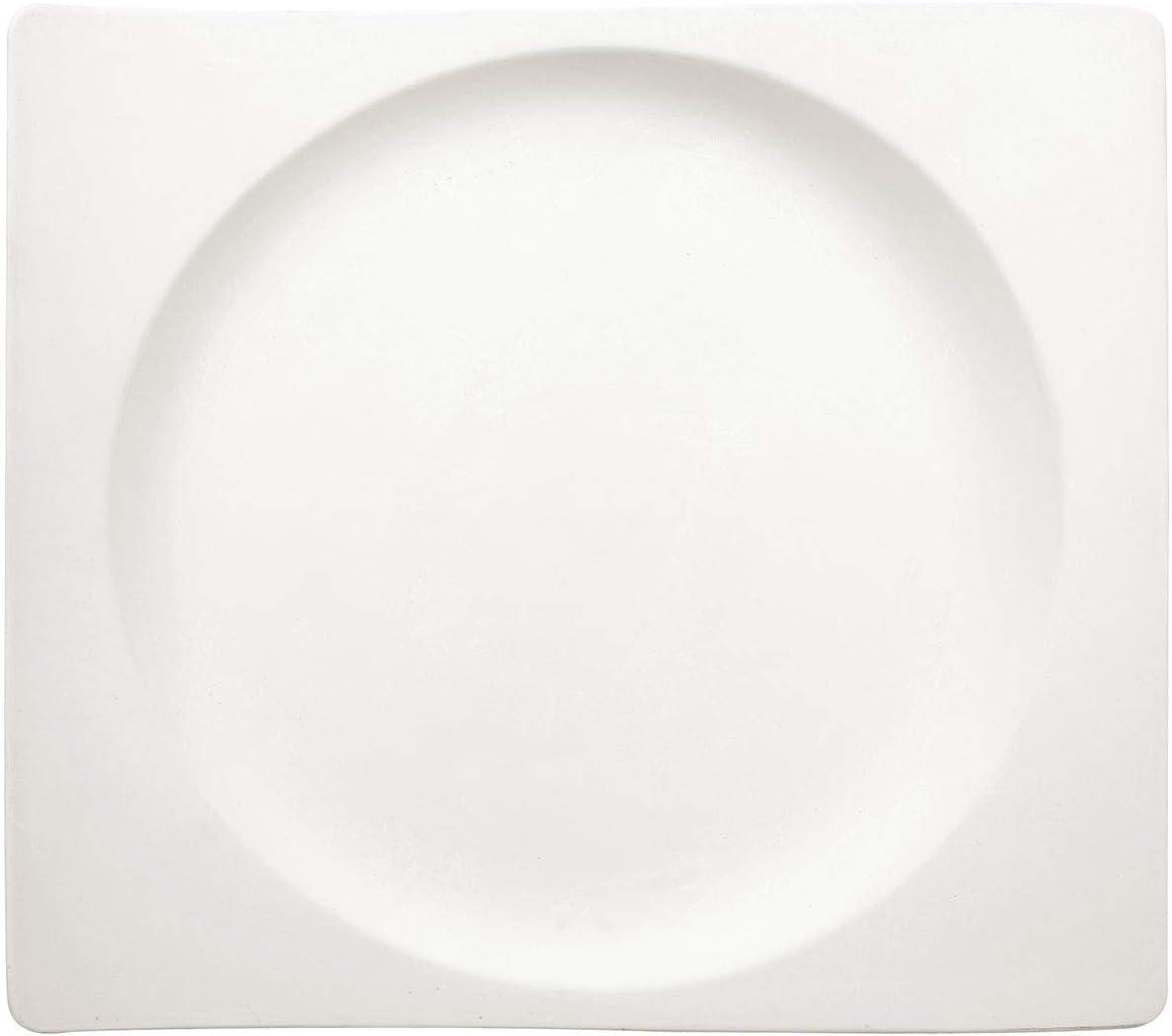 24 cm Villeroy /& Boch 1025252647 NewWave Plato de Desayuno cuadrado de Onduladas Formas Blanco Porcelana