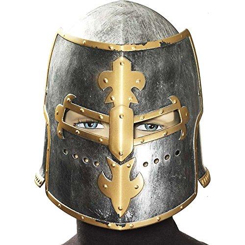 (Forum Novelties Medieval Knight Plastic Costume Helmet Gray/Gold)