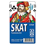 Ravensburger 27003 3'French Picture Skat Card Game with Clear Case