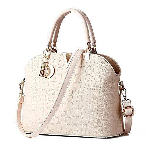 JHVYF Simple Shoulderbag Casual Daypack Schoolbag Handbag for Girls White V