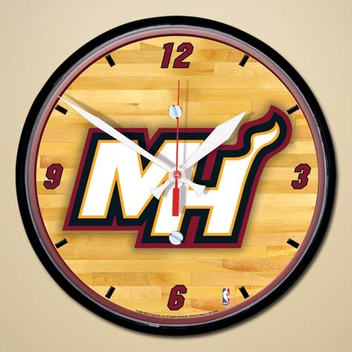 - Wincraft NBA Miami Heat 12'' Hardwood Court Wall Clock