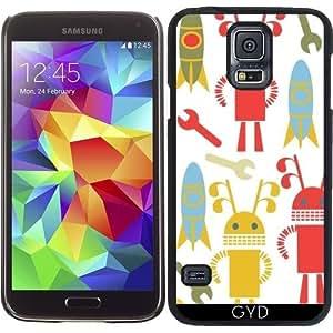 Funda para Samsung Galaxy S5 (SM-G900) - Patrón De Los Robots by Luizavictorya72