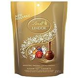 Lindt Lindor Assorted Chocolates Pouch, Milk, Dark, Hazelnut and White, 250g