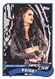 #3: 2018 Topps Heritage WWE #58 Paige SmackDown LIVE Wrestling Trading Card