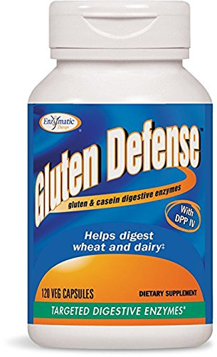 Enzymatic Therapy Gluten Defense Vegetarian Capsules, 120 Count