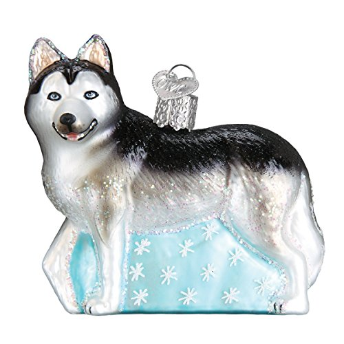 Old World Christmas Glass Blown Ornament Siberian Husky