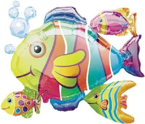 LoonBalloon FISH Cluster Under the Sea Luau Beach Tropical Ocean Party 30