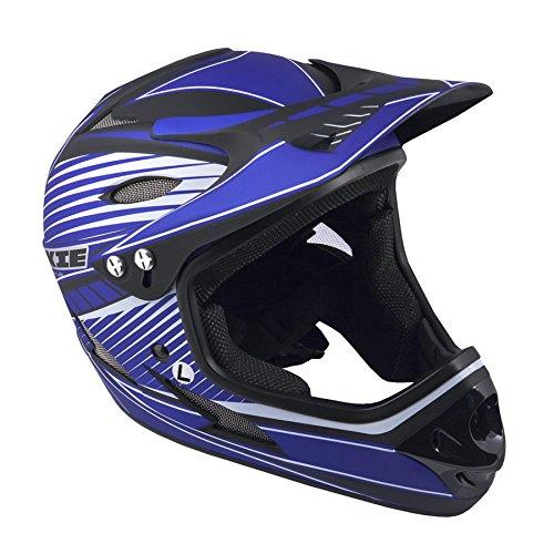 Author Fahrradhelm Fullface Rookie Größe L 59cm-60cm BMX Dirt blau schwarz