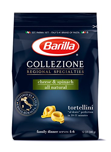 Barilla Collezione Pasta, Cheese and Spinach Tortellini, 12 Ounce