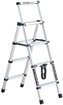 SOAR Escaleras telescópicas Paso escaleras telescópicas Escalera, un botón de retracción de extensión paso escaleras multiuso plegable de la escala por diarias del hogar o Ingeniería: Amazon.es: Bricolaje y herramientas