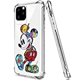 DISNEY COLLECTION iPhone 11 Pro Case 2019 5.8 Inch Colorful Mickey Soft Flexible TPU Ultra-Thin Shockproof Transparent Bumper Protective Cover Case