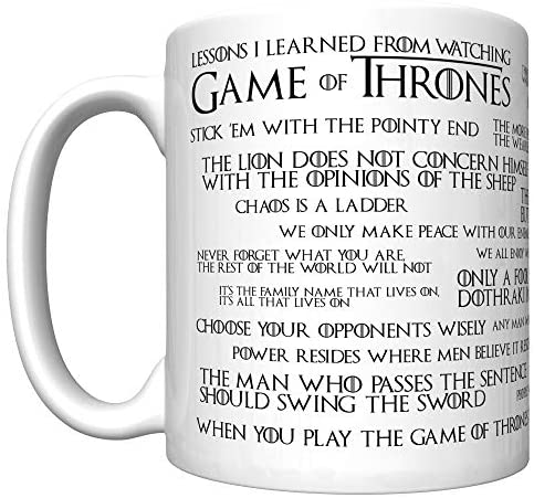 Lessons I Learned From Watching Game of Thrones (Old Edition) Coffee Mug [gotl] 2